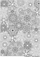 Detailed Flowers Colouring Page by WelshPixie
