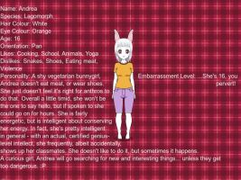 Character Bio - Andrea by Brooms17