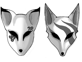 Fox and Coyote Guardian Masks by SirLeonel