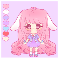 Adoptable- Pastel Bunny [Closed] by myaoh