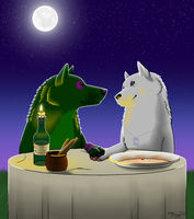 PC-Lady and The Tramp Scene by Jenny2-point-0
