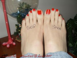 Layna Long Red Toes Dedication by SelfshotYourFeet