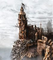 the ancient Vraad's fortress by silesti