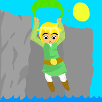Toon Link Flying by phatality123