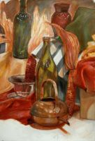 Color Still Life With Underpainting by ResidentFrankenstein