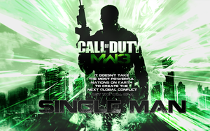 MW3 wallpaper with text by karriu