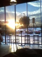 Sunset in Starbucks (Tall) by falconire