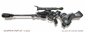 Sniper rifle concept by artzilla