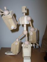 Wooden Robot by Trog13