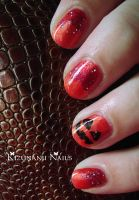 Pumpkin Halloween Nails by KizunaniiNails