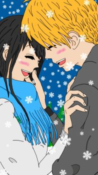 Snowy Date by 1145kagome1145