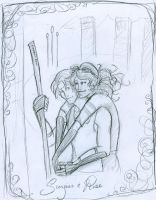 Scorpius and Rose- quidditch by HILLYMINNE