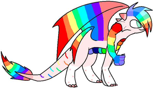 Rainbow-Pinky /My dragon oc/ by Rainbowsofi-chan123