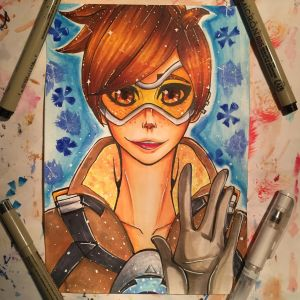 Tracer - Overwatch by xxMi-ChansArtxx