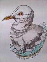 Lady seagull. by Akumashugitattoo