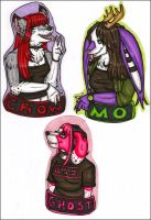 New badges for my girls by silverwing