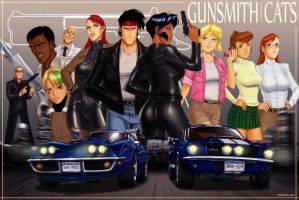 Gunsmith Cats tribute by zakuman