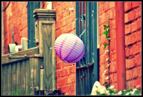 Purple Balloon by Isika