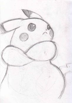 pissed off pikachu by happy4neko