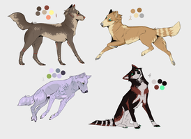 Canine Adoptable Batch 2 -CLOSED- by wolfkittyadopts