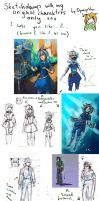 Sketchdump with my Original Characters only! by DymasyaSilver