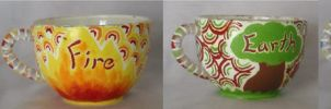 Elements Teacups by kampfly