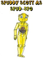 Clever Wars - Spuddy Scott as Spud-3PO by Magic-Kristina-KW