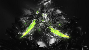 Valeera Sanguinar Black and White by SpiritAJ