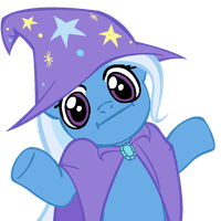Shrugpony Trixie by MoongazePonies