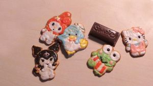 Sanrio sugar cookies from polymer clay by sugarcharmshop