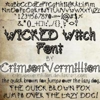 WICKED Witch Font by crimsonvermil-stock