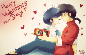Ranma 1/2- Happy Valentine's day by LiaMenietowLove