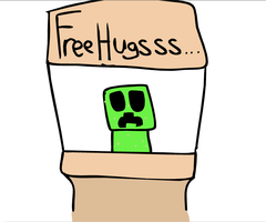 Minecraft free hugs by mrbumb