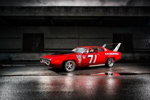 1971 Plymouth Satellite Nascar Race Car by AmericanMuscle