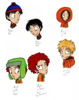 South Park boys by thedarklordkeisha