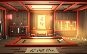 Cartoon Kung Fu Hall by Hayden-Zammit