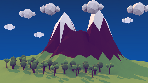 Low poly landscape 2 by Drudoo