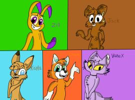 Zoophopbia Characters by Dulcechica19