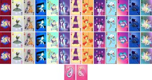 My Little Pony playing cards (redo) by domatophobia