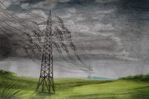 Electrical tower by YunakiDraw