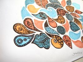 Organic zentangle design in color by yael360