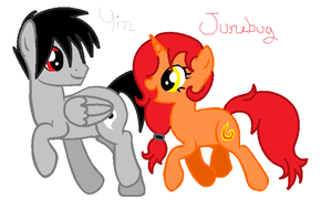 New OCs:Yin and Junebug by Tornblackribbons