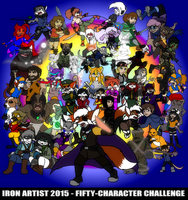 Iron Artist 2015 - Fifty-Character Challenge by Gathion