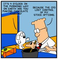 Dilbert makes pudding at 4AM by mightyfilm