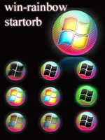 windows rainbow startorb by swapnil36fg