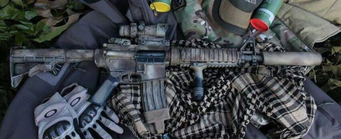 M4 in snake skin camo.  by dog-green-1