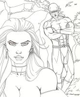 X-Men Cyclops and Emma Frost by montes-h