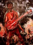 rock god in oils by mojokingbee