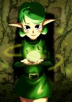 Saria and Deku Sprout by bahferretboy