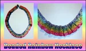 Beaded Rainbow Necklace by minami63